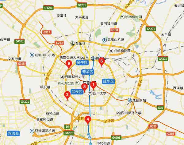 成都市矢量地图